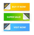Colorful set of promotional sale banners vector image