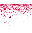 confetti hearts vector image vector image