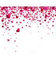 Confetti of hearts vector image vector image