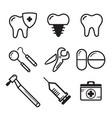 dental medichine icon vector image