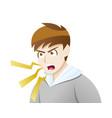 depression symptoms anger outbursts vector image