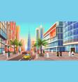 dubai street cityscape uae city skyline vector image vector image