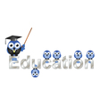Education text vector image vector image