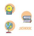 elementary school icons vector image
