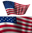 Flags USA Stars and Stripes for Independence Day vector image