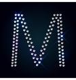 Gems M letter Shiny diamond font vector image vector image