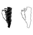 gibraltar map vector image vector image