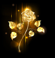 golden rose vector image vector image