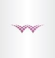 halftone letter w purple icon vector image vector image