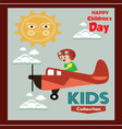 happy children day background universal vector image