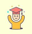 happy graduation logo vector image