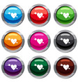 heart with arrow set 9 collection vector image
