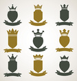 Heraldic royal blazon set - imperial striped decor vector image