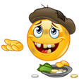 homeless emoticon vector image