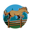 Horse Jump Ranch Fence vector image vector image