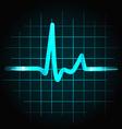 Human heartbeat sinus wave vector image