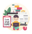 i work from home vector image