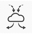 icon cloud to store files downloading and transfer vector image vector image