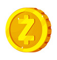 isolated object of cryptocurrency and coin sign vector image