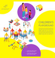 isometric kids playground colorful template vector image