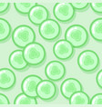 kawaii style green seamless pattern vector image