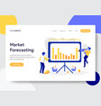 landing page template market forecasting vector image