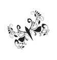 Large abstract butterfly vector image vector image