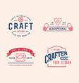 logo design handmade diy craft tailoring and vector image
