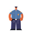 male police officer standing pose policeman vector image