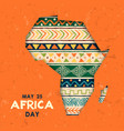 may 25 africa day card tribal art african map