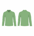 mens green long sleeve t shirt vector image vector image