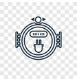 meter concept linear icon isolated on transparent vector image