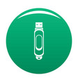 mini usb icon green vector image vector image