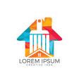modern real estate logo design vector image vector image