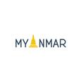 Myanmar word logo concept vector image