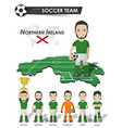 northern ireland national soccer cup team vector image vector image
