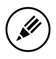 pencil icon - iconic design vector image vector image