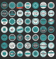 premium quality retro badges collection 3 vector image vector image