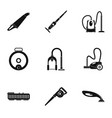 professional vacuum cleaner icon set simple style vector image vector image