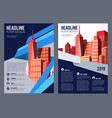 real estate flyer brochure cover building company vector image