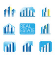 real estate logo city building and construction vector image vector image