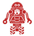 rolling robot vector image vector image