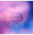 sacred geometry sign flower life symbol vector image