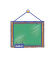 school blackboard with wood frame design vector image