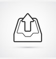 seo archive flat line trendy black icon eps10 vector image
