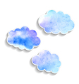 set watercolor clouds isolated on white background vector image vector image