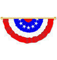 stars and stripes bunting vector image vector image