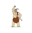 Super Hero Caveman vector image vector image
