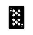 ten of spades french playing cards related icon vector image vector image