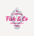 the flounder fish and company abstract vector image